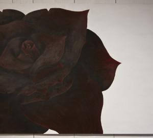 Rödbrun ros, målning