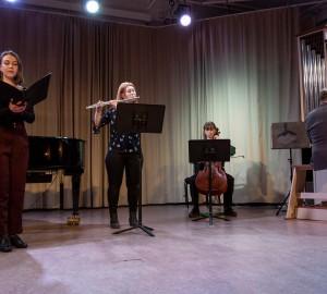 Klassisk konsert i Kävesta folkhögskolas aula, 2019.