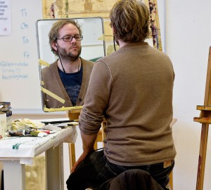 Konst & formgivningslinjens måleriateljé, bild 3