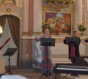 Klassisk ensemble med flöjt och oboe.