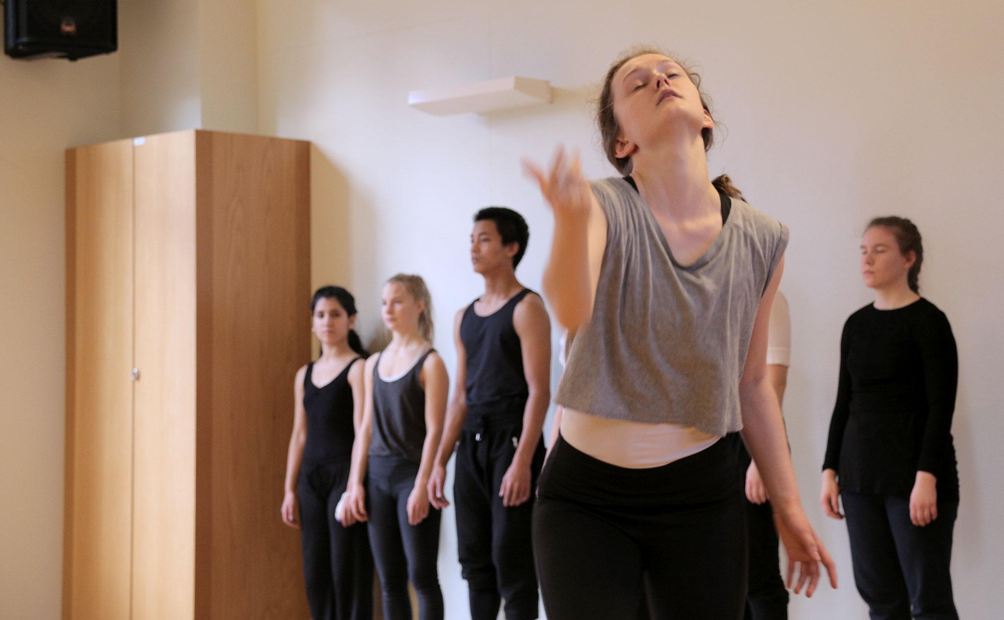 Dansare i rörelse.