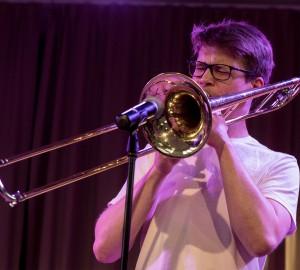 En trombonist.