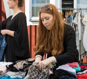 Kävestas miljögrupp hade ordnat med klädinsamling och loppis för välgörande ändamål.